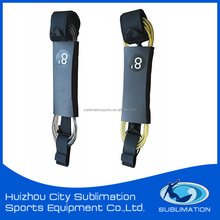 Hot Sold Twin Color OEM Surfboard Leash Surf Leash With Brass/ Stainless Steel Swivel/Silk Printing Gard,Neoprene strap
