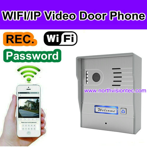 2016 Newest WiFi Video Door Phone With Android IOS APP Remote Unlock Two-way Intercom Tamper alarm PIR detect POE Power Supply