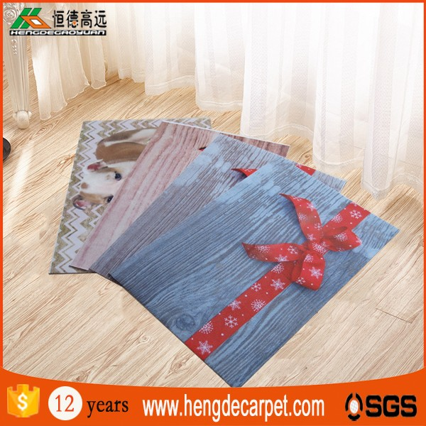 2016 new trendy non slip custom digital printed 3d area rugs