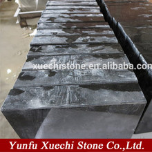 good china shanxi black granite polished flat grave marker,monument
