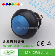 CMP colorful momentary or latching waterproof 12mm domed Plastic push button switch
