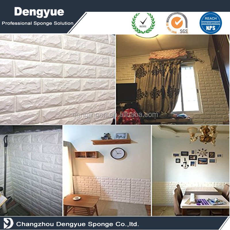 2016 NEW style 3D XPE foam Three-dimensional imitation brick wallpaper / beautiful design wall paper