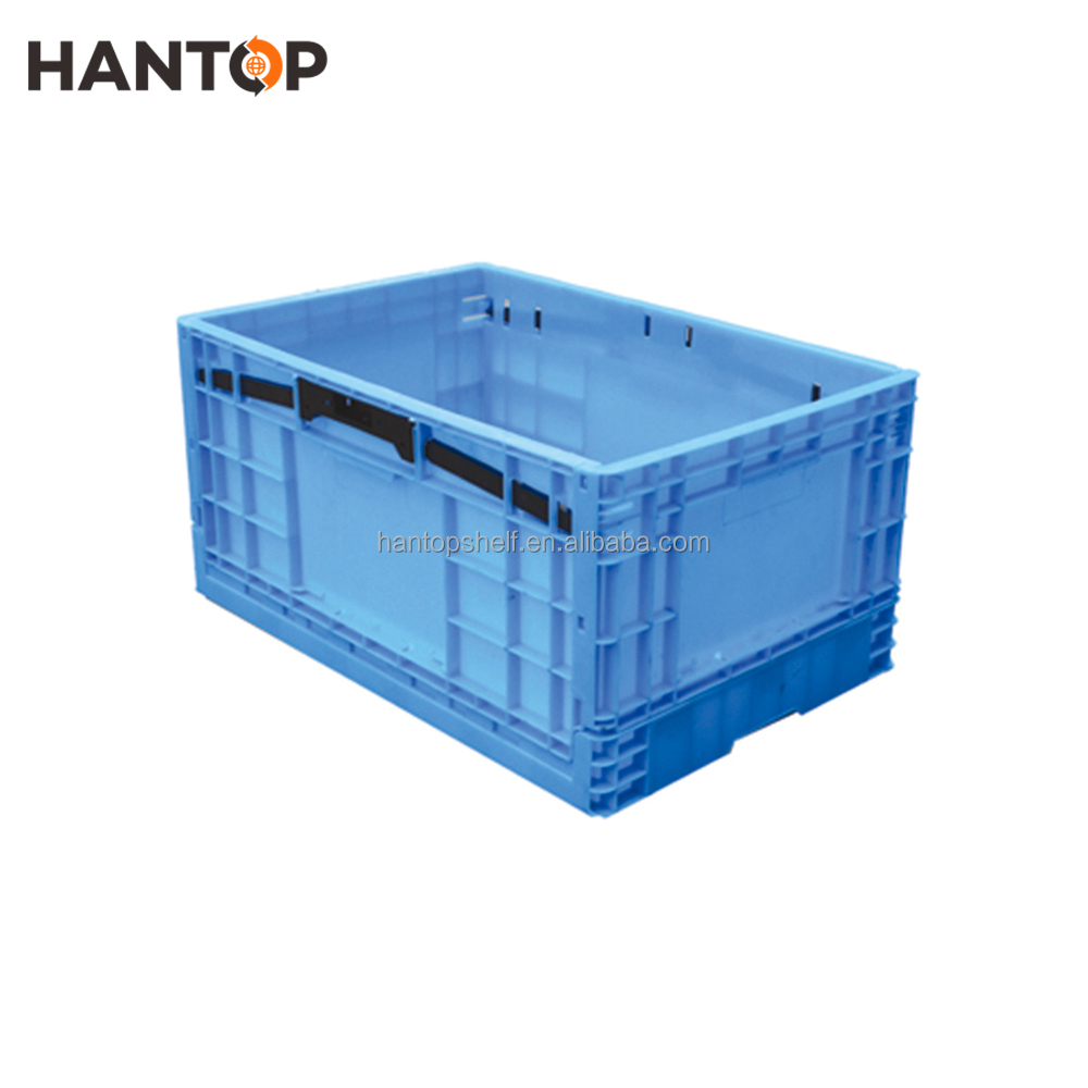 Supermarket Collapsible Plastic Transport Vegetable Crate HAN-FB06 2685