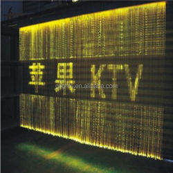 Curtain Lighting PMMA fiber optic curtain for indoor decoration