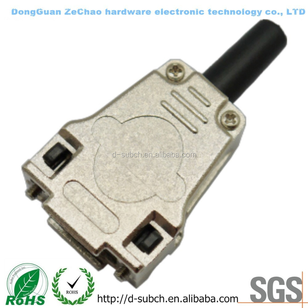 VGA 9 POS CONNECTOR BACKSHELLS,db9 female socket