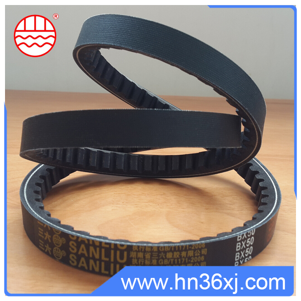 China Manufacture Raw Edge Cogged Rubber V Belt
