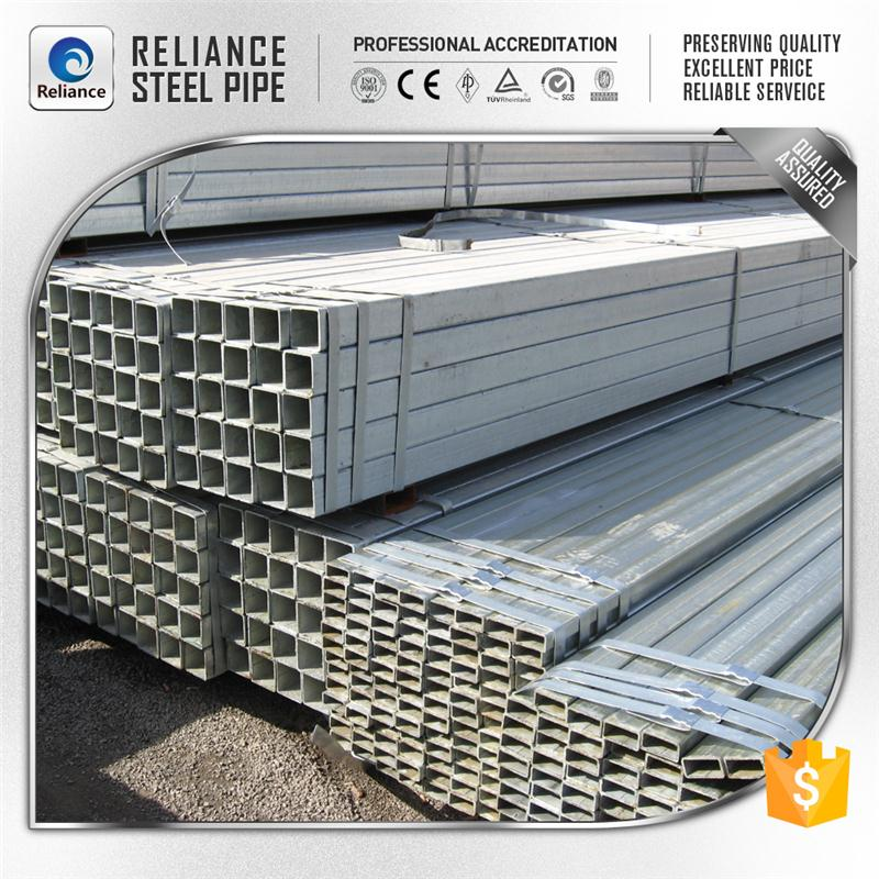 rectangular plastic pipe tube rectangular pipe hot dip galvanized square tube / pipe
