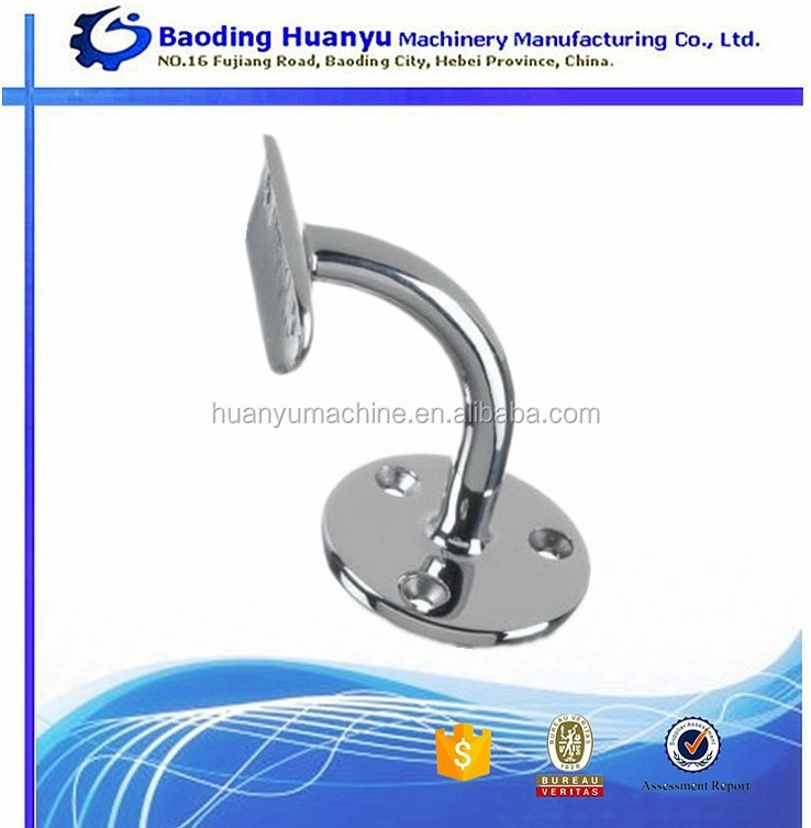 China producer stair handrail bracket with chrome