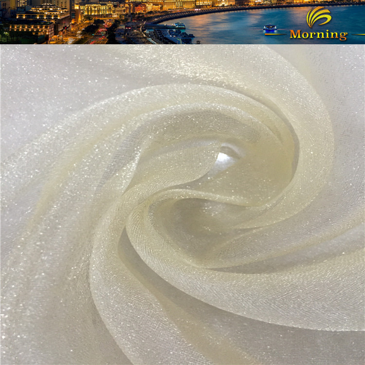 Hot Selling 100% Nylon Woven Wedding Dress Snow Organza Chiffon Fabric