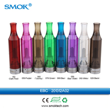 High quality mini size ecig bottom coil atomizer SMOK EBC colorful single coil clearomizer with sealed drip tips no leaking prob