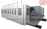 GIGA LX Carton Box Making Production line High Speed Automatic corrugated carton stapling machine