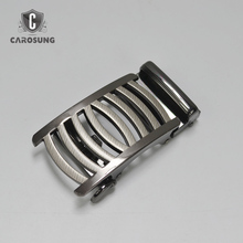 Custom metal die casting spring latch automatic see through belt buckle