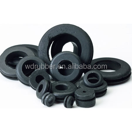 Custom molded nitrile rubber cable grommet
