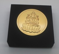 Buddhism sitting statue stamping 50 years anniversary gold plated coin