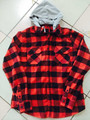 Hot sale fashion new design pullover shirt long sleeve flannel shirt with hood cap