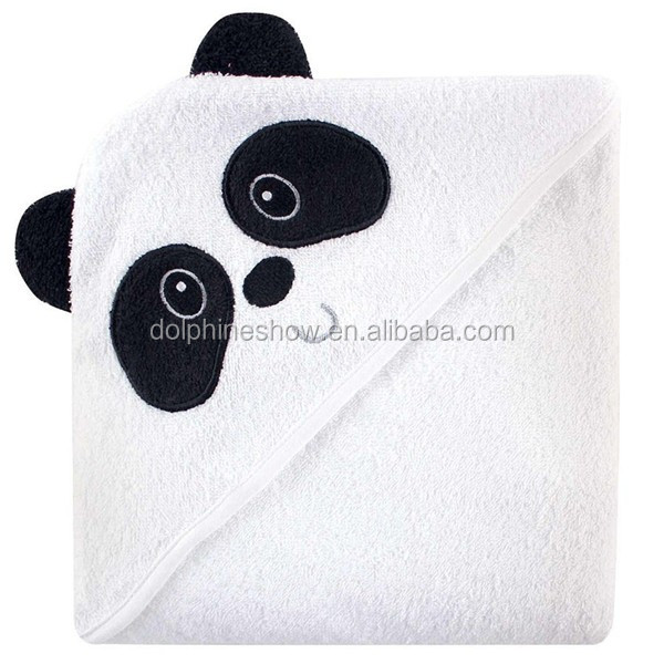 Top selling custom cute cheap kids bath towel fashion 100% organic cotton panda design cartoon bath towel