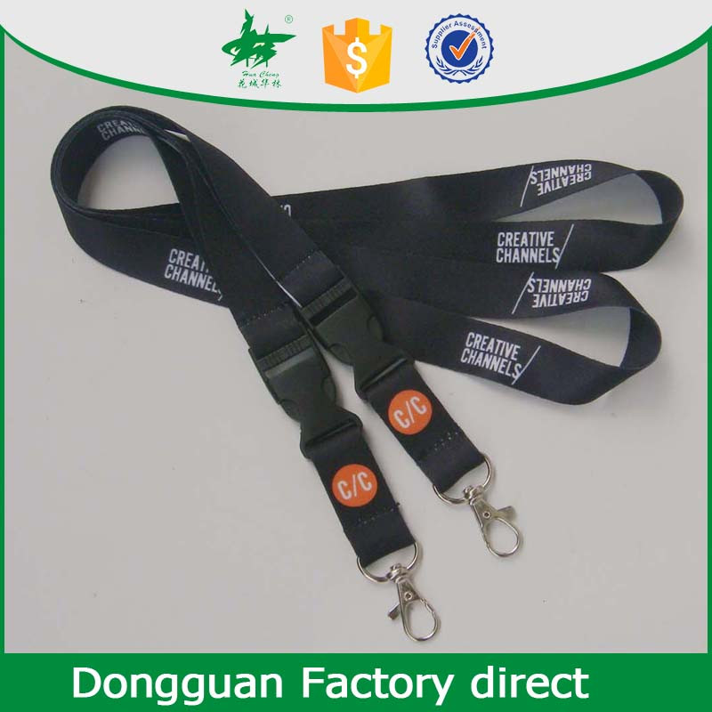 promotion gift custom logo lanyard with plastic buckle
