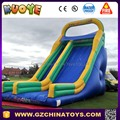 blue mega inflatable slide for hire