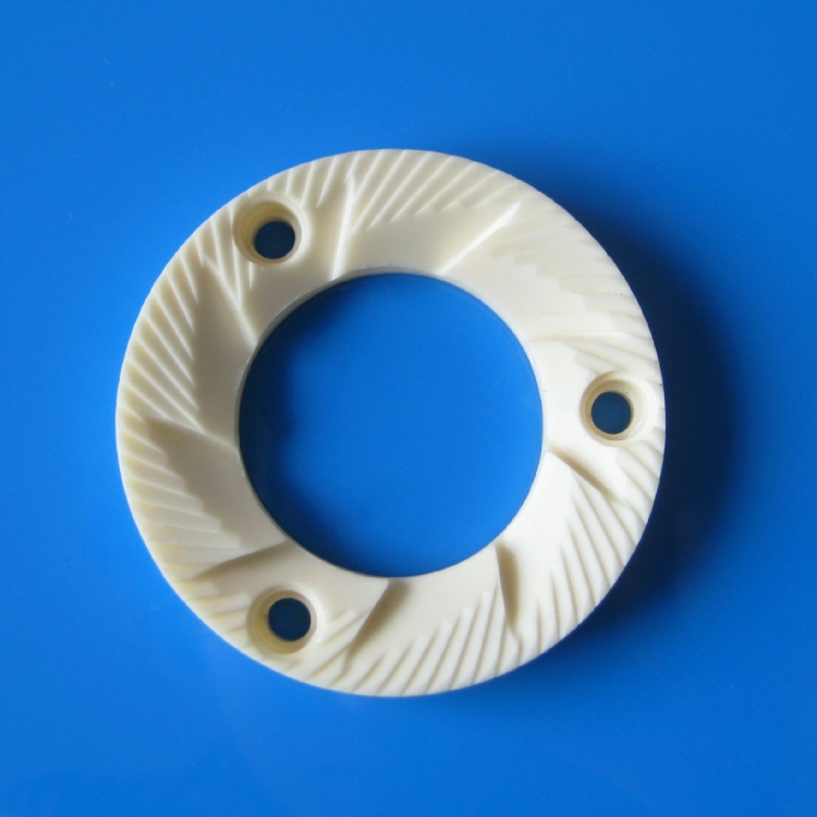 High quality abrasive resistant alumina ceramic grinding disc for coffee maker