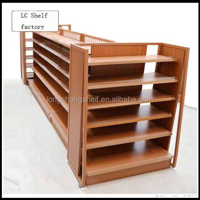 New Product High Quality Steel Wood Display For Infant & Mom Double Side Gondola Shelf