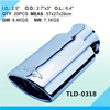2.5 Exhaust Stainless Steel Car Muffler Polished Stainless Steel Muffler
