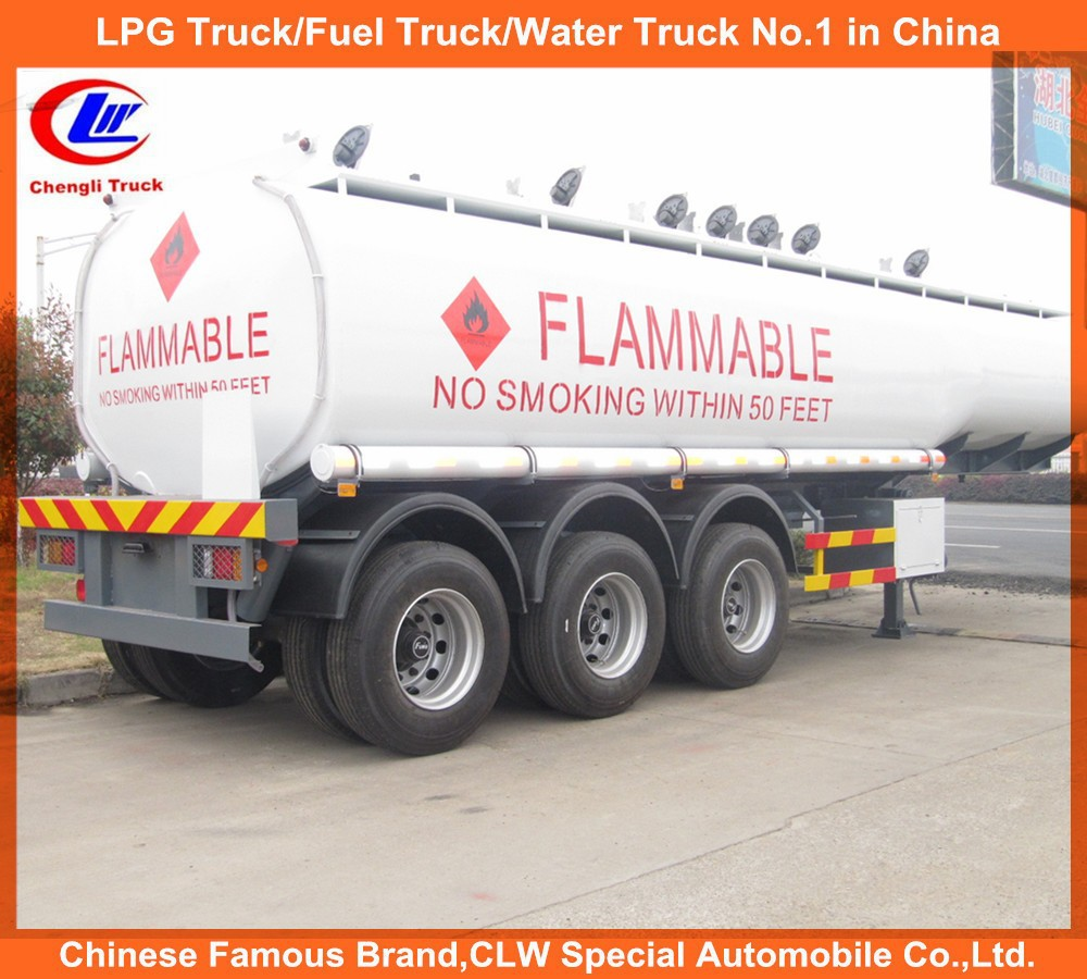 China manufacture 30cbm fuel tanker trailer 30000liters diesel/gasoline trailer tank