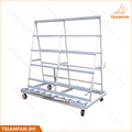 High quality metal display rack A frame glass and stone slab display rack factory showing stand