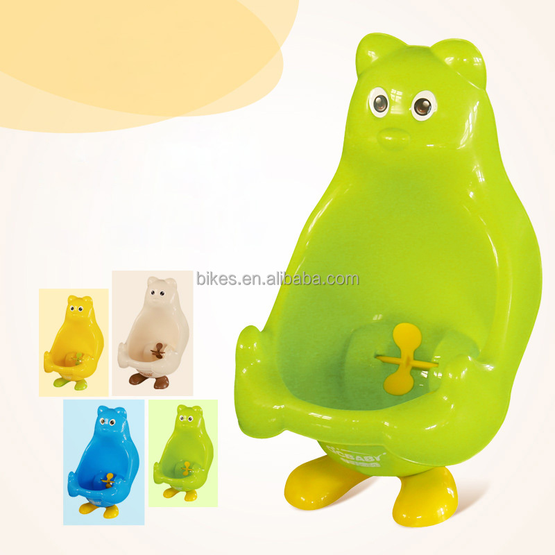 Baby Toilet Plastic Cute Bear Wall-Mounted Urinals Toilet Portable Training Boy Children's Potty Cozy Leakproof Kids Toilet