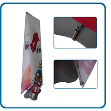 Adjustable outdoor x banner stand with water base