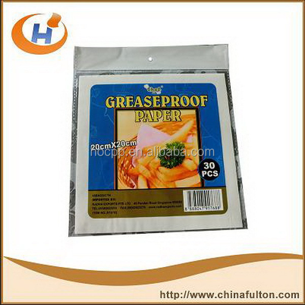 Greaseproof paper in customized size and weight