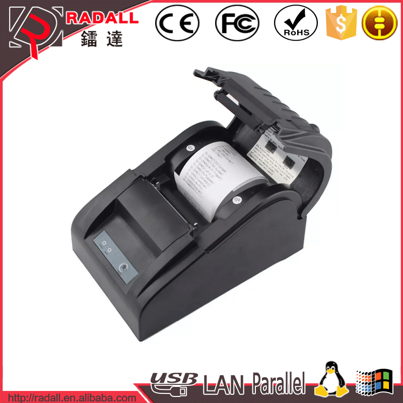 5890T Cheap factory 58mm portable thermal printer, Supporting embedded POS 58 thermal receipt printer with driver