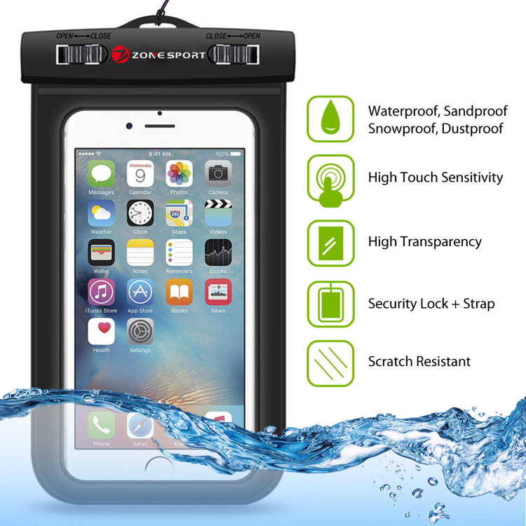 PVC Waterproof Phone Case Underwater Phone Bag For Samsung galaxy S6/S5//S4 For iphone 5/5S/6/6S/6PLUS