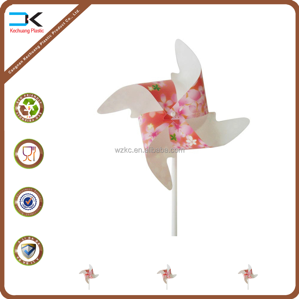 Cute cartoon flowr shape toy windmill from China, China toy pinwheel wholesale