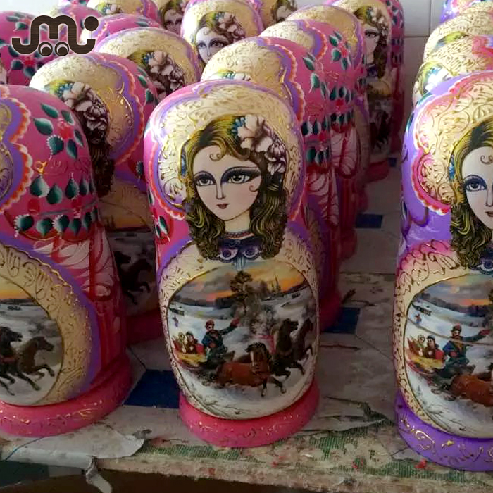 wholesale russian nesting dolls,hand draw varnished russian nesting doll