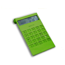 Elegant design Plastic 12 digits dual power desktop calculator
