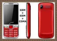 2014 hot selling CDMA 800mhz 1900mhz G+G+C 3 SIM cards phone dual cards dual standby