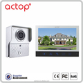 Home security motion detector ACTOP recordable 7inch wired video door phone