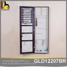 good quality wall hanging jewelry armoire with full length mirror