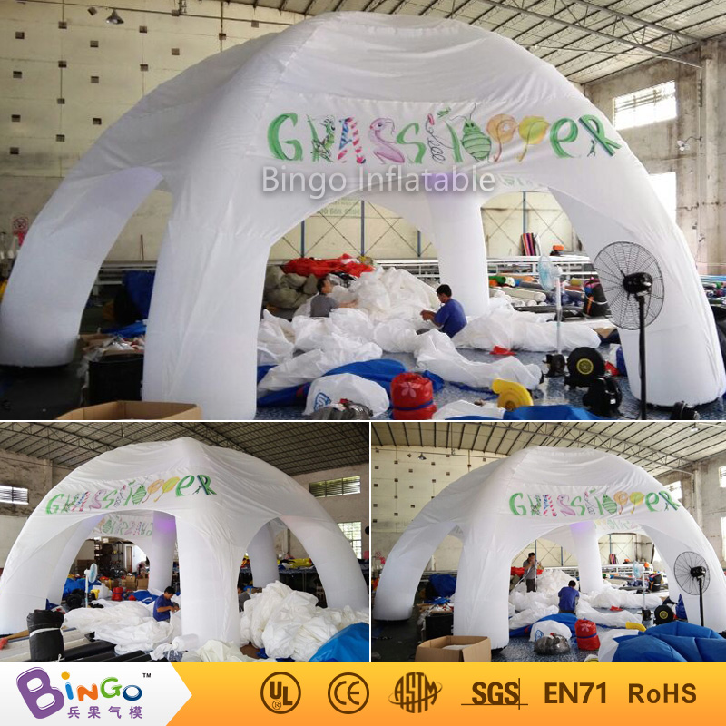 Inflatable White Tent With Led Lighting, Color Change Cocktail Party
