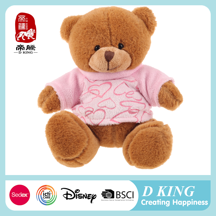 China Factory Customized Teddy Plush Toy Stuffed Chubby Bear In T-shirt
