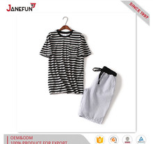 Custom trendy stripe short sleepwear for men
