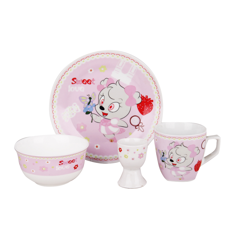2017 Colored Porcelain Dinnerware Sets Lovely Cartoon Designs Dinnerware Dishes Plate Set