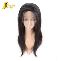 Raw virgin human hair wigs for black women, natural girls hair wig,no chemical jon renau wig