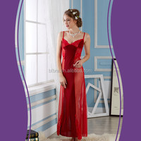 Fashion hot sale breathable knitted ladies nightgown patterns