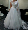 Real sample elegant simple design high quality custom make wedding dress #OW594