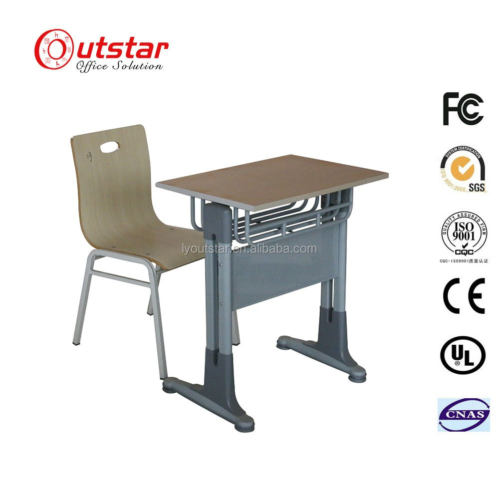 Wonderful and Practical Furniture primary school furniture cushion Single student Metal legs wood top desks