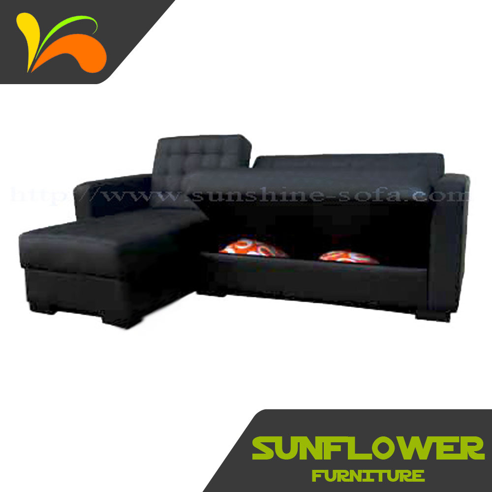 Smart Home Furniture L Shape Corner PU Sofa Cum Bed Home
