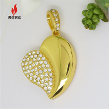 necklace jewel USB Flash disk for girl use fashion diamante usb flash drive with high quality usb flash drives with jewel