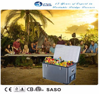 New model 73 Liters 12 Volt mini fridge for truck, portable car cooler box,chiller freezer