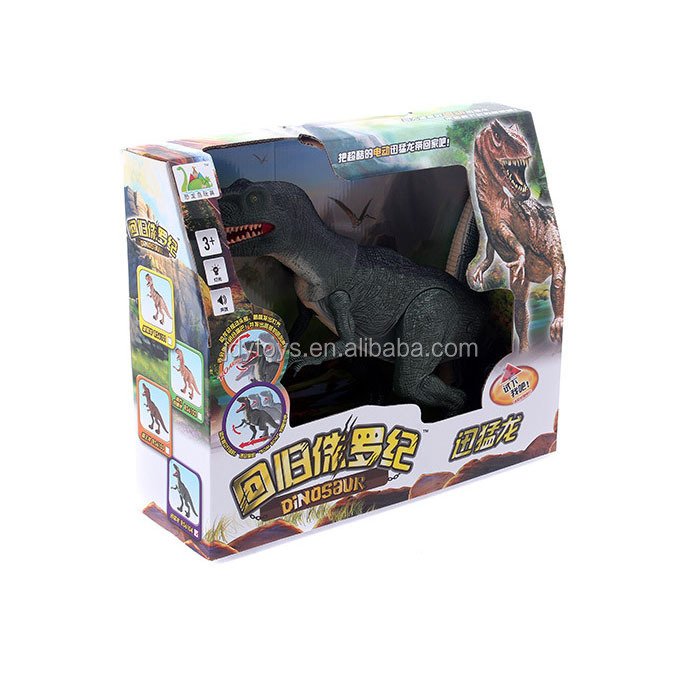 Toy battery operated dinosaur king for kids with lights music lights China wholesale